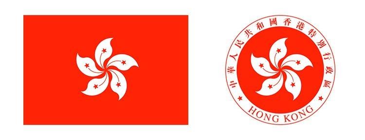 Флаг и герб Гонконга